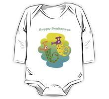 Happy Seahorses One Piece - Long Sleeve