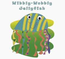 Wibbly-Wobbly Jellyfish One Piece - Short Sleeve