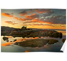 SUNSET AT BAY OF FIRES Poster