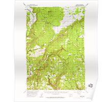 USGS Topo Map Washington State WA Husum 241636 1957 62500 Poster