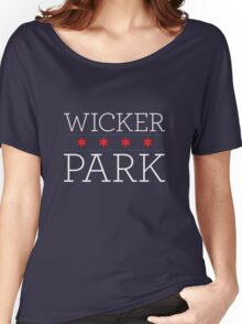 Wicker Park Neighborhood Tee (Dark) Women's Relaxed Fit T-Shirt