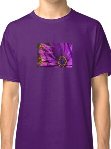 Sing, Live, Love, Dance Quote Purple African Daisy  Classic T-Shirt
