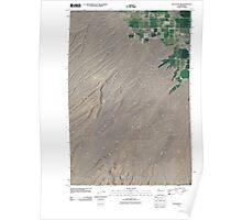 USGS Topo Map Washington State WA Bluelight NW 20110504 TM Poster