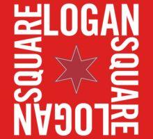 Logan Square Neighborhood Tee (Dark) Kids Tee
