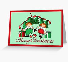 Christmas Moppets Greeting Card