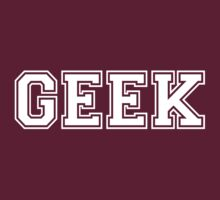 Red College GEEK Tee by Limited Apparel