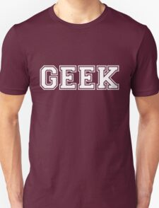Red College GEEK Tee T-Shirt