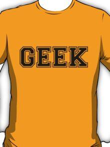 White College GEEK Tee T-Shirt