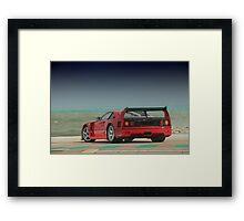 Ferrari F 40 LM Michelotto Framed Print