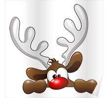 Peeping Reindeer Poster
