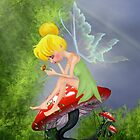 Fairy with butterfly 2 by Lorraine Smith