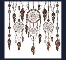 Native American Dreamcatcher Feathers Pattern Kids Clothes