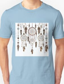 Native American Dreamcatcher Feathers Pattern T-Shirt