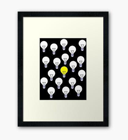 The only bright one in the bunch Framed Print