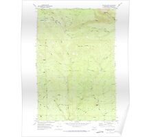 USGS Topo Map Washington State WA Poland Butte 243186 1970 24000 Poster