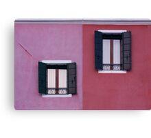 Facade of Burano Canvas Print