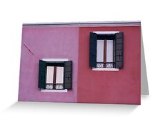 Facade of Burano Greeting Card