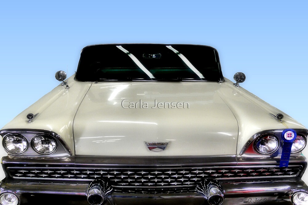 1959  Ford Skyliner Convertible  by Carla Jensen