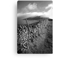 The Peak Wall - Yorkshire Canvas Print