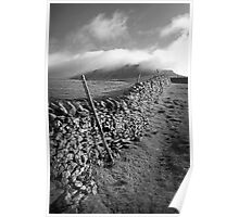 The Peak Wall - Yorkshire Poster