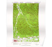 USGS Topo Map Washington State WA Wickersham 244688 1951 62500 Poster
