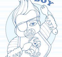 It's A Boy Card by TattooedBabies