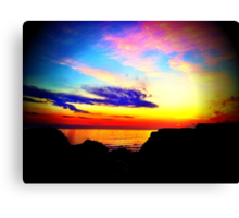 Sunset in beautiful Bude.. Canvas Print