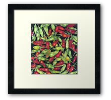 Chilly Harvest (coloured pencils) Framed Print