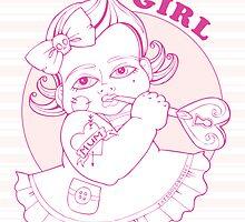 It's A Girl Card by TattooedBabies