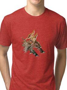 Steampunk bronze wolf Tri-blend T-Shirt