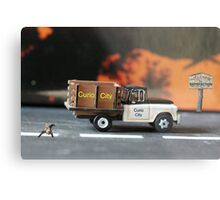Their timely arrival and location will definitely bode well for the cat. Metal Print