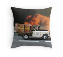 Their timely arrival and location will definitely bode well for the cat. Throw Pillow
