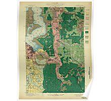 USGS Topo Map Washington State WA Tacoma 244177 1897 125000 Poster