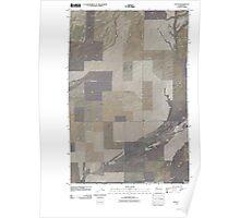 USGS Topo Map Washington State WA Lind SE 20110404 TM Poster