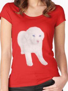 Ƹ̴Ӂ̴Ʒ SWEET DOG TEE SHIRT Ƹ̴Ӂ̴Ʒ Women's Fitted Scoop T-Shirt