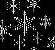 Snowflakes Black by Adam Wain