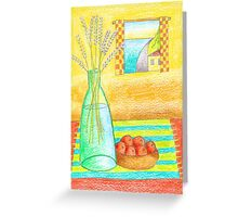 Lavender and Oranges Greeting Card