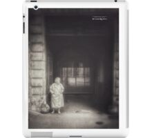 A long boring wait iPad Case/Skin