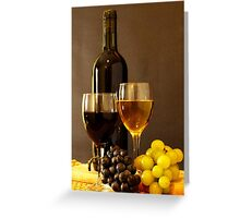 Wines and Grapes Greeting Card