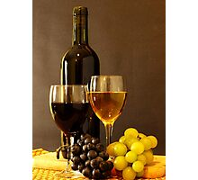 Wines and Grapes Photographic Print