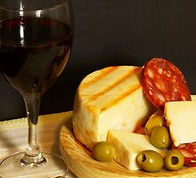 Red, Cheese, Sausage and Olives by photoshot44