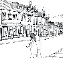 'North Street Shops' Pen & Ink by doatley