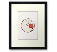 Cat loves wool Framed Print