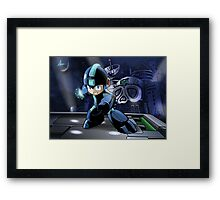 Megaman the Hero of 200x and 20xx Framed Print