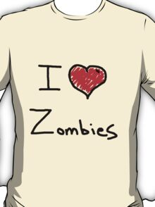i love halloween zombies T-Shirt