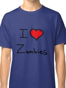 i love halloween zombies Classic T-Shirt