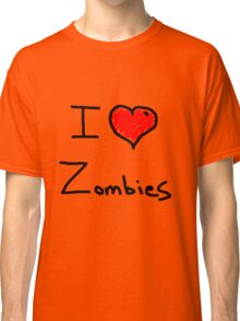 i love halloween zombies Classic T-Shirt