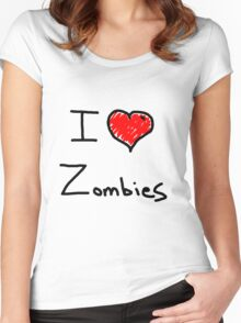 i love halloween zombies Women's Fitted Scoop T-Shirt