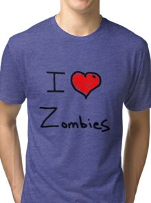 i love halloween zombies Tri-blend T-Shirt