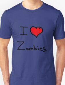 i love halloween zombies Unisex T-Shirt